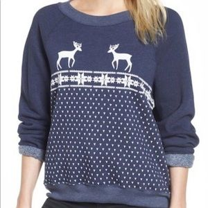 Wildfox snow deer sweatshirt